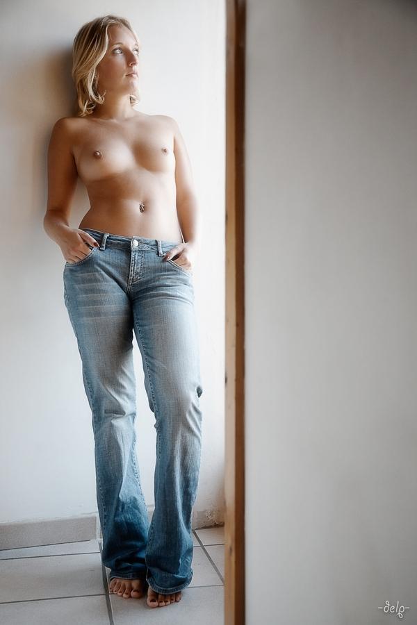 Many skinny pants on topless girls drawings spank