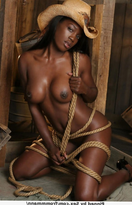 ... hot black Cowgirl!