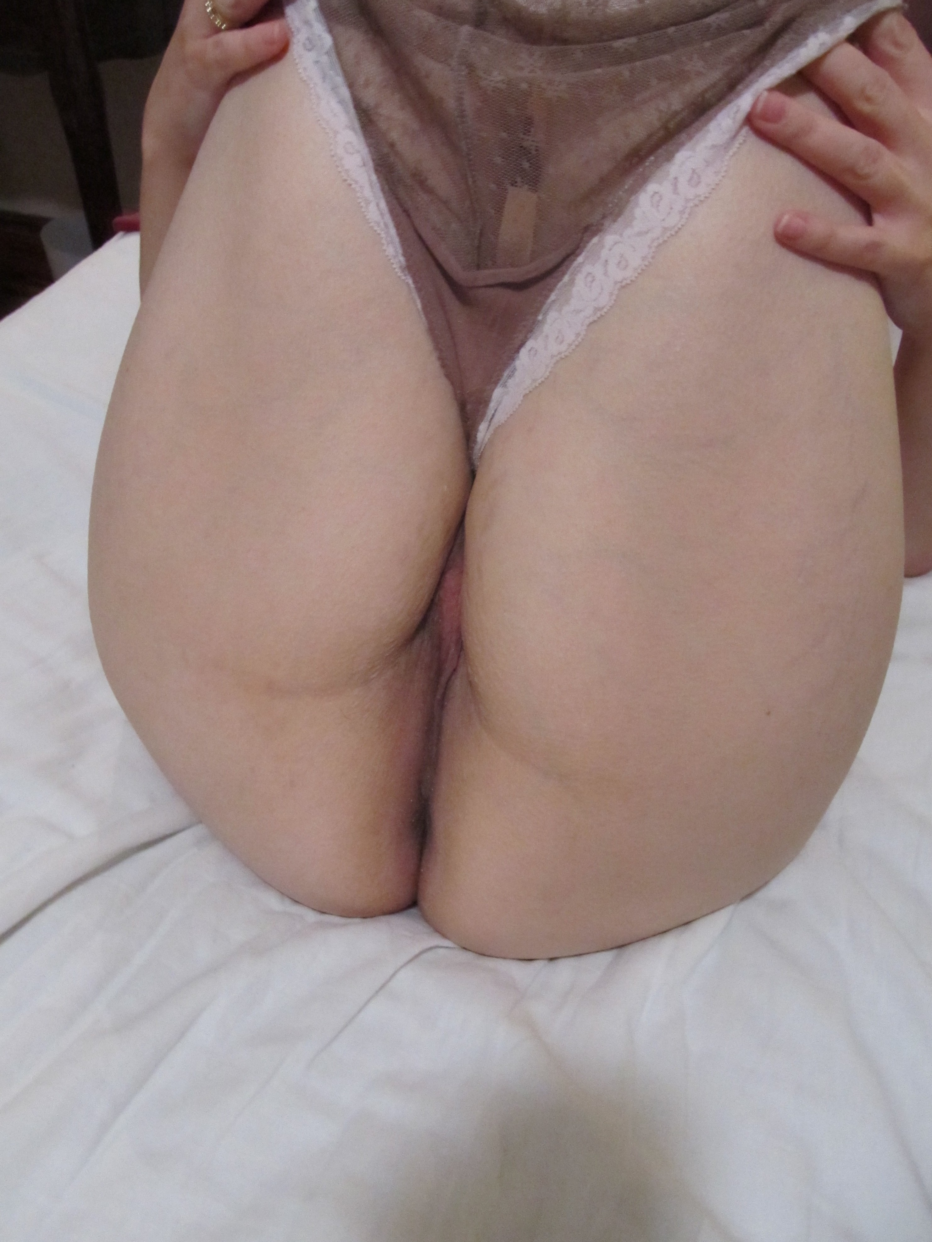 peeling off the panties