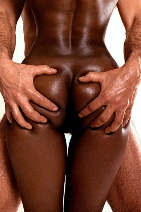 I like to grab hard and press her buttocks while she gets wet for me